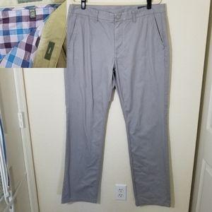 Bonobos Gray/Beige Straight Leg Pants Size 36x34
